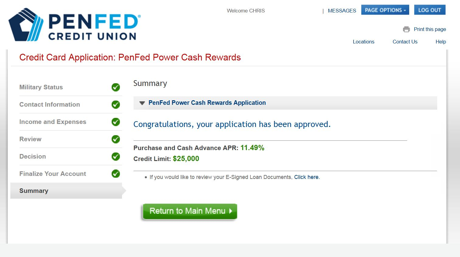 Re: PenFed Power Cash Rewards Visa Signature Card ... - myFICO® Forums - 4925990