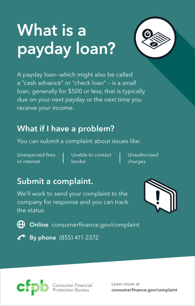 You can submit a payday loan complaint | Consumer Financial Protection Bureau
