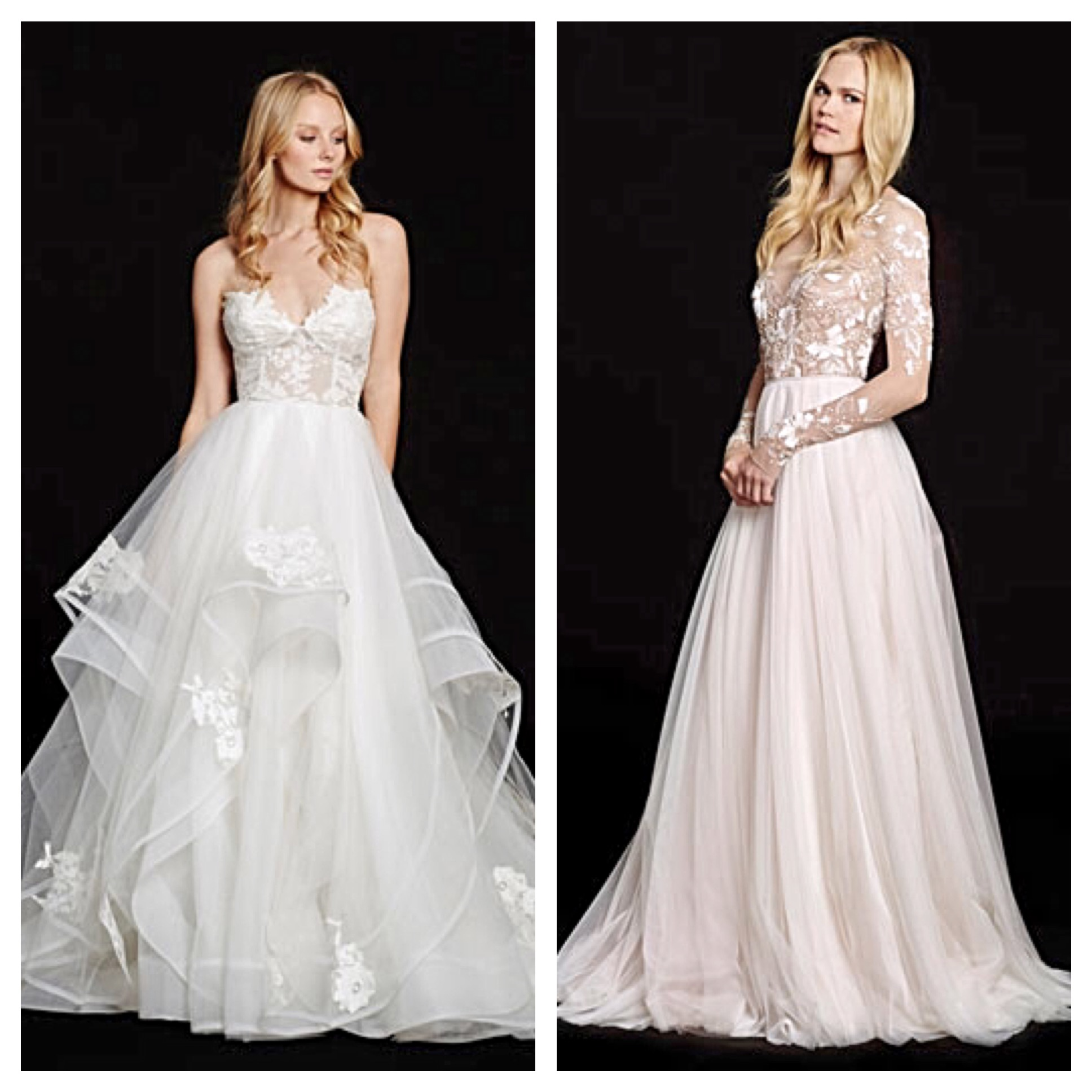 hayley paige bridal hayley paige wedding dress Left Enchanting Chantelle Right Radiant Remmington