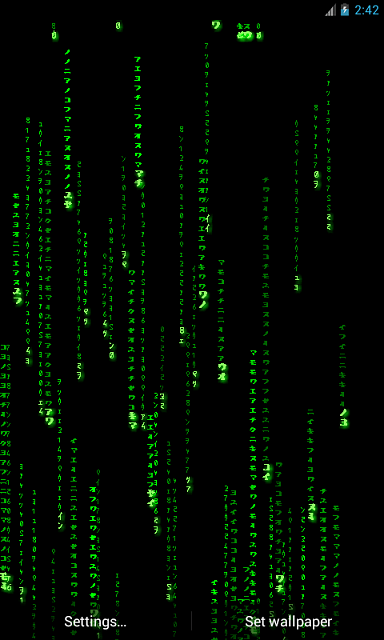 Matrix Live Wallpaper: Get the real feel! - Android Forums at AndroidCentral.com