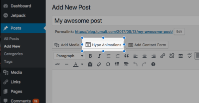 Tumult Hype Animations Wordpress Plugin - Exporting & Previewing - Tumult Forums