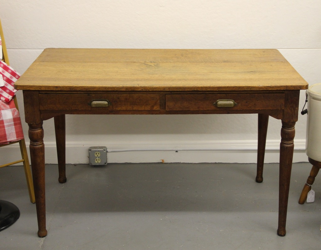 two drawer work or kitchen table dealer 2 kitchen work table Two Drawer Work or Kitchen Table