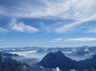 Top of Zugspitze Garmisch-Partenkirchen Germany HD wallpaper