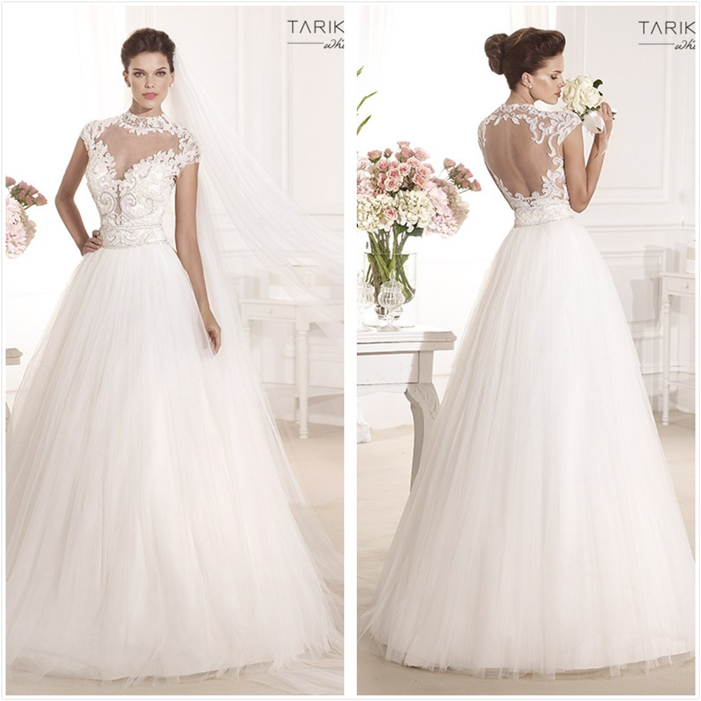 p 3 princess style wedding dress Luxury Lace over Satin Princess Cut Beaded Wedding Gown