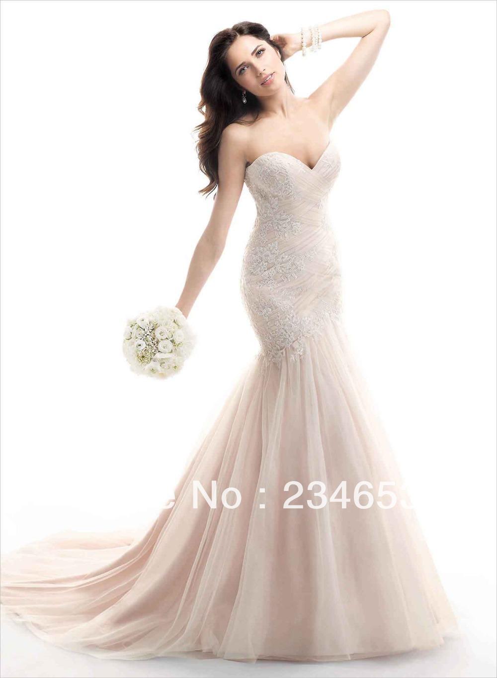 blush colored wedding dresses Pink wedding dresses