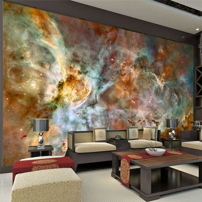 Charming Galaxy Wallpaper Nebula Photo wallpaper 3D Silk Wall Mural Poster Large Wall Art Room ...
