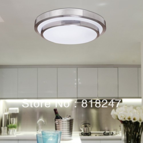 Free shipping White Flush Mount Ceiling Lights in Round Shape For Kitchen And Bathroom Hallway Lamp