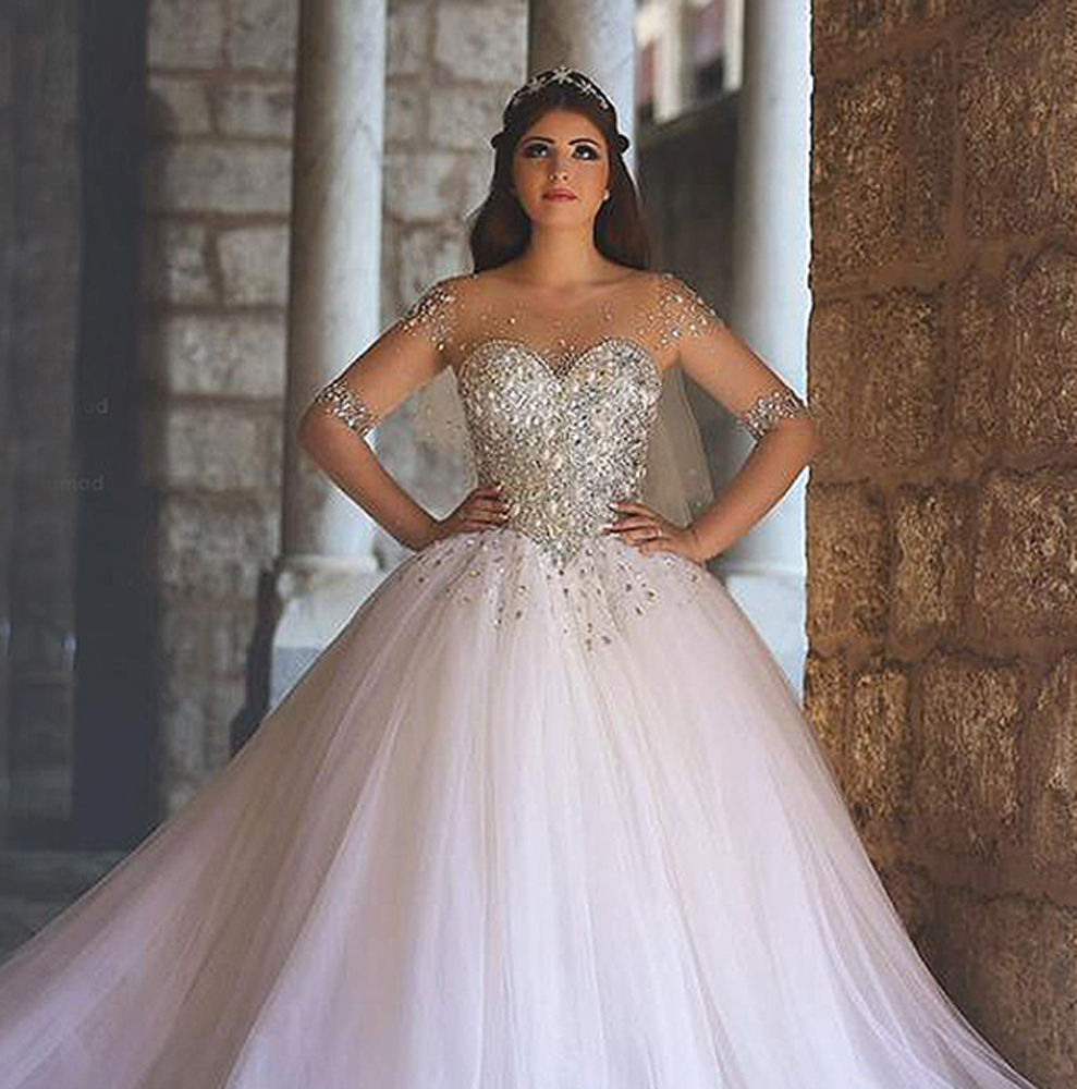 a wedding gown fit for a princess disney or otherwise princess style wedding dress cinderella dress Slider Size
