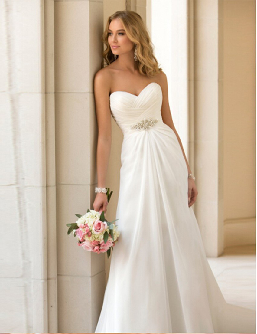 white beach wedding dresses short beach wedding dresses cheap Short Strapless Beach Wedding Dresses