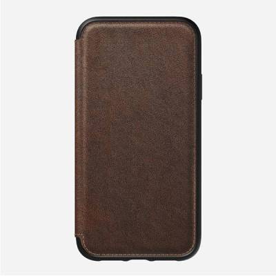 Nomad Rugged Folio iPhone XR Leather Case   Gadgetsin