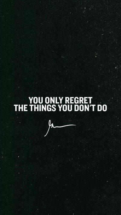 You only regret the things you don't do – GaryVee Wallpapers