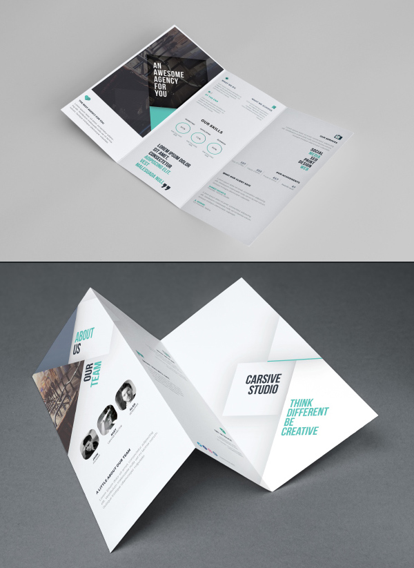 50 Free Branding PSD Mockups for Designers   Freebies   Graphic     Free Tri fold Brochure Template