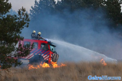 Grote heidebrand Hoog Soeren onder controle