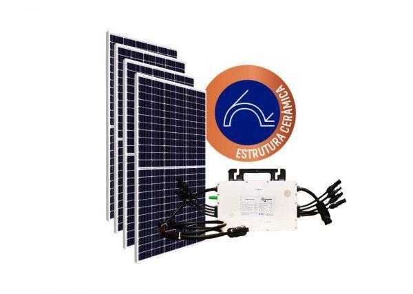 Micro Inversor solar fotovoltaico Hoymiles DTU Hoymiles Modulo fotovoltaico SUNOVA Estrutura OlgaColor Cerâmica