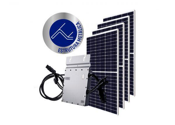 Micro Inversor solar fotovoltaico Hoymiles DTU Hoymiles Modulo fotovoltaico SUNOVA Estrutura OlgaColor Metálica