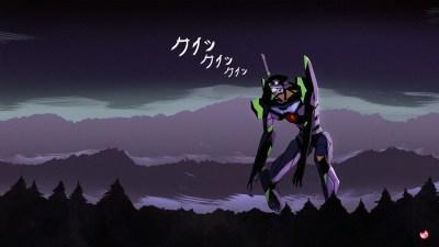 Wallpaper : illustration, anime, Neon Genesis Evangelion, EVA Unit 01, midnight, darkness ...