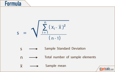 Standard Deviation for 5, 10, 15, 20, 25, 30, 35, 40, 45 and 50 - Workout