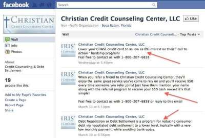 Reader Wants to Know Why Christian Credit Counseling Center is Pushing Chase Bank Call to Action ...