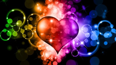 Colorful Hearts Wallpaper (66+ images)