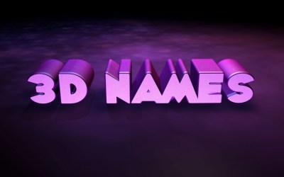 3D Names Wallpaper (52+ images)