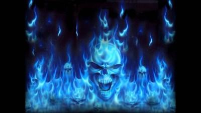 Flaming Skulls Wallpaper (59+ images)