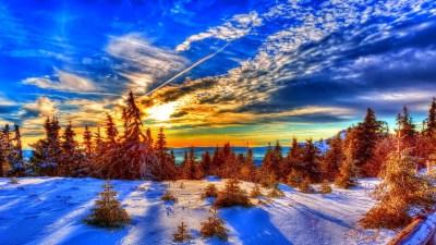 Winter Sunset HD Wallpaper (50+ images)