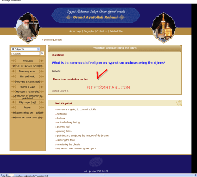 Various fatwas of shia scholars
