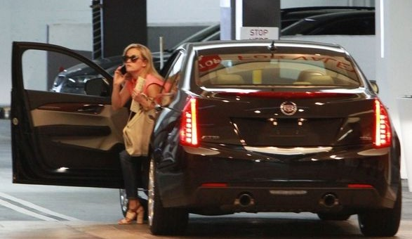 Reese Witherspoon Spotted With 2013 Cadillac ATS   GM Authority Reese Witherspoon Cadillac ATS