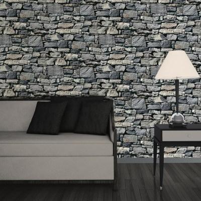 Muriva Dry Stone Wall 3D Effect Wallpaper