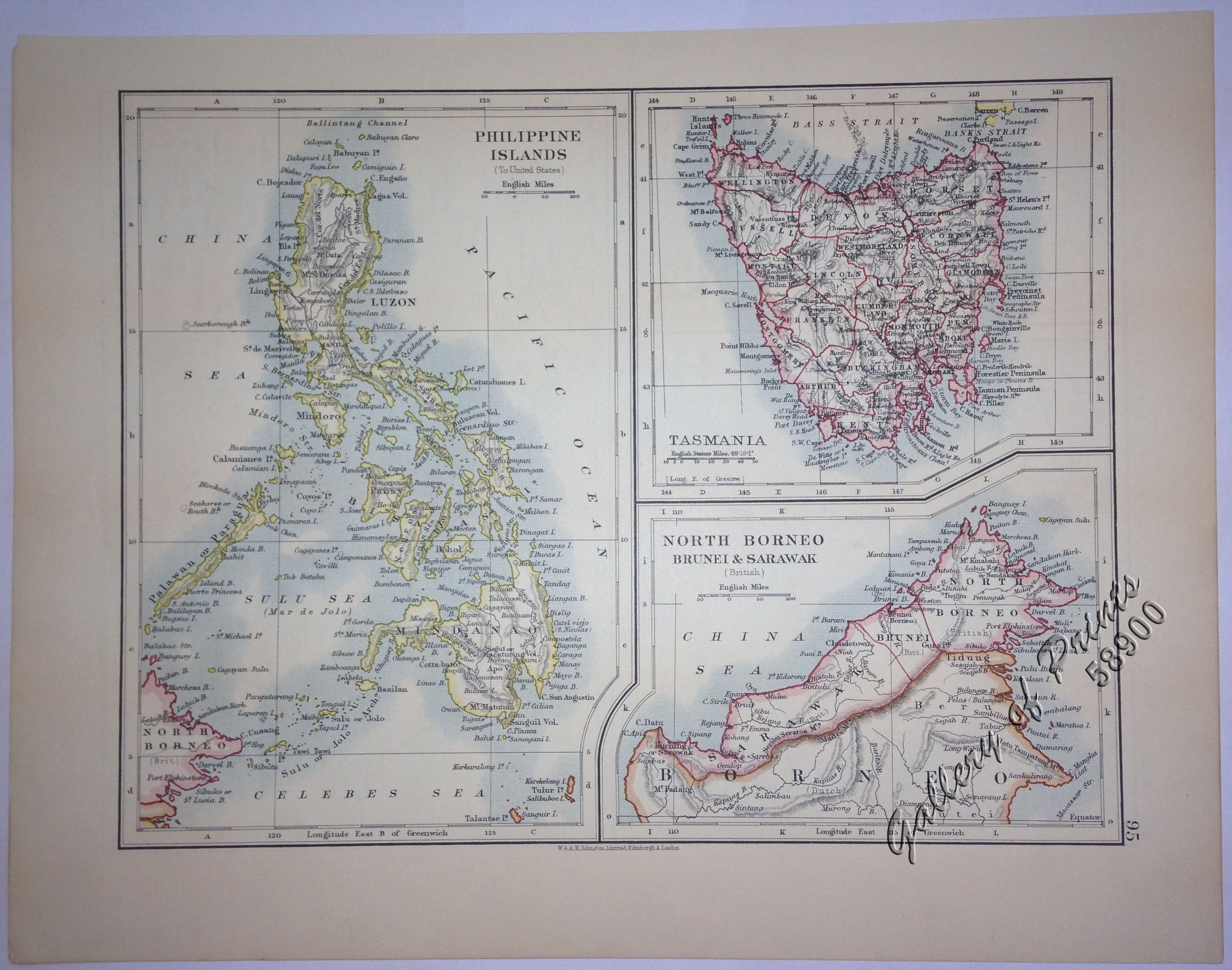 1  Philippine Islands  to United States   2  Tasmania  3  North     1  Philippine Islands  to United States   2  Tasmania  3  North Borneo   Sarawak   Brunei  British   with prints on verso  1  Melbourne and  Environs  2