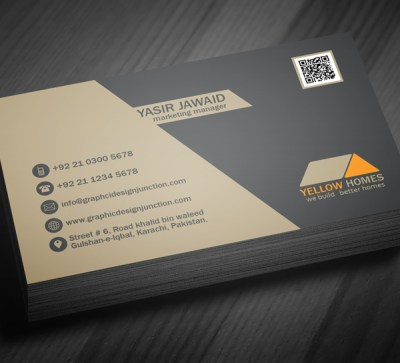 Free Real Estate Business Card Template (PSD)   Freebies   Graphic Design Junction