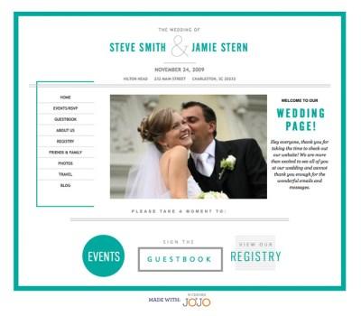 Wedding Websites from Wedding Jojo | Green Wedding Shoes ...