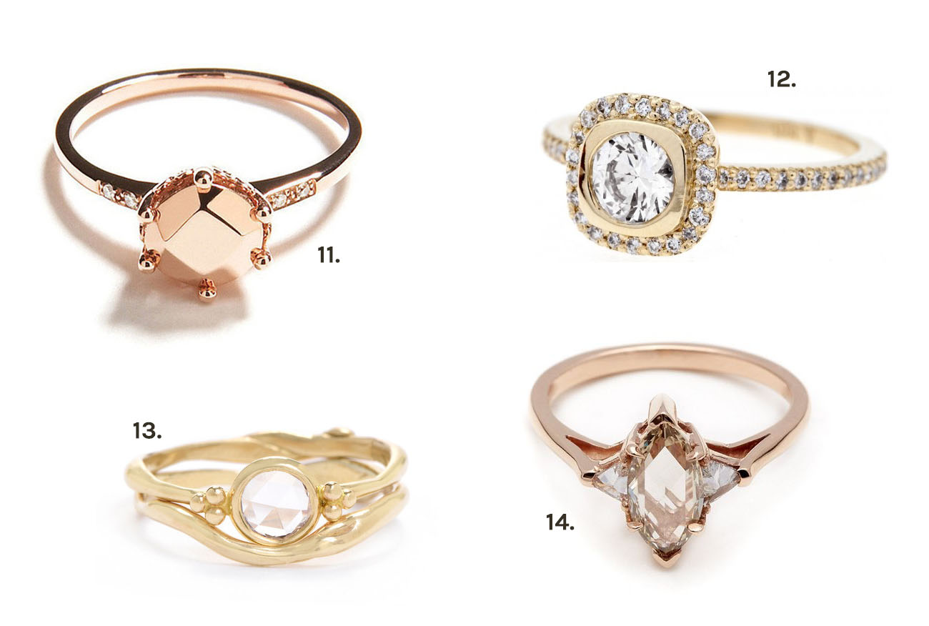 our favorite unique engagement rings unique wedding rings Our Favorite Unique Engagement Rings