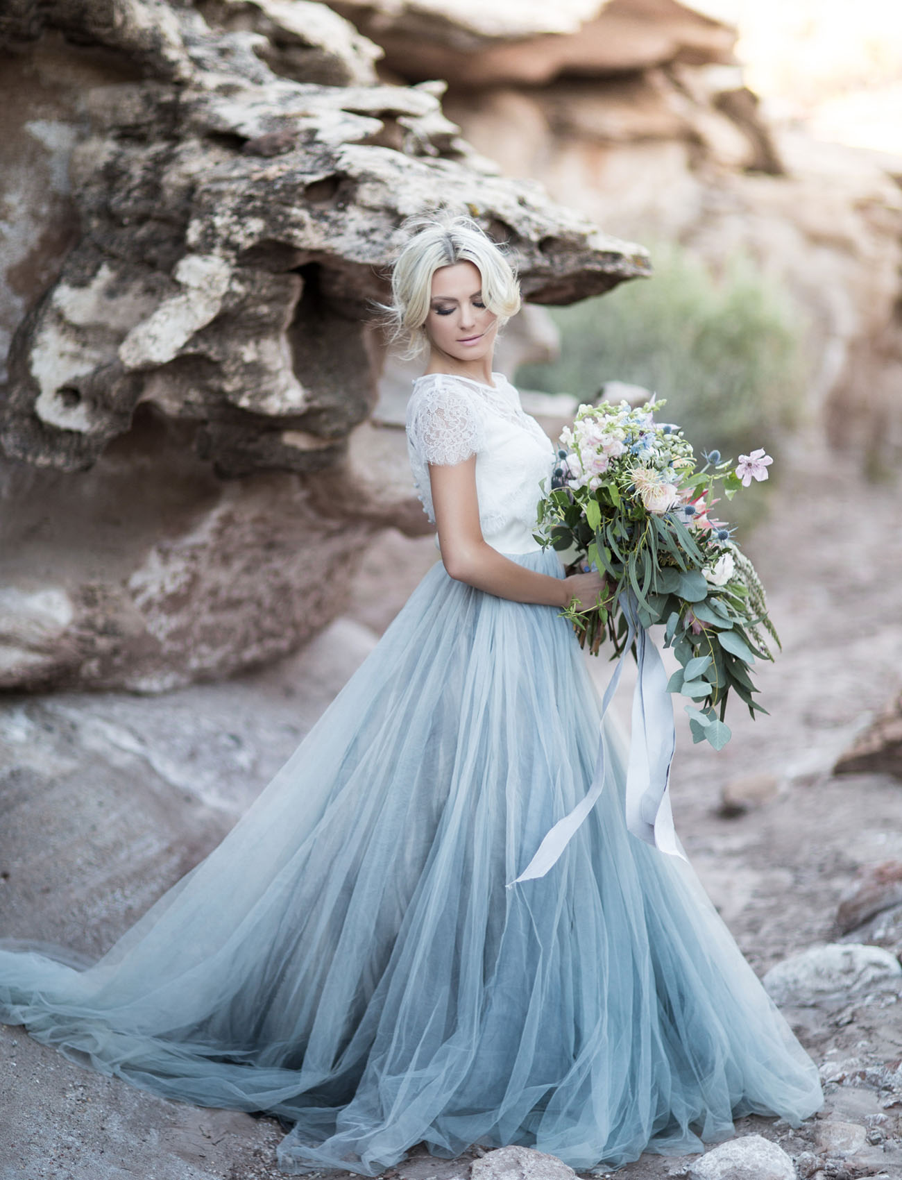 our favorite wedding dresses from wedding dress blue This Blue Tulle Skirt Lace Top Combo Wedding Dress