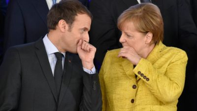 Merkel and Macron call for 'peaceful settlement' in eastern Ukraine | The Guardian Nigeria News ...