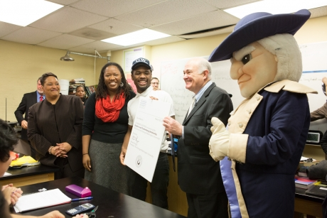 GW Surprises Eight D.C. Students With Full-Ride Scholarships   GW Today   The George Washington ...