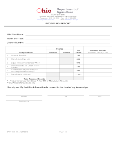2019 Receiving Report Form - Fillable, Printable PDF & Forms | Handypdf