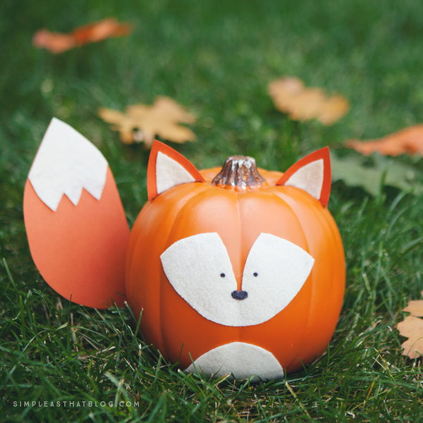 50  Kid Friendly No Carve Pumpkin Decorating Ideas   Hative Fox Pumpkin