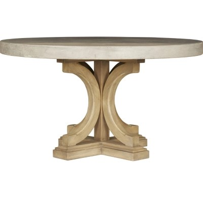 lakeview round concrete dining table havertys kitchen tables Main Lakeview Round Concrete Dining Table Image