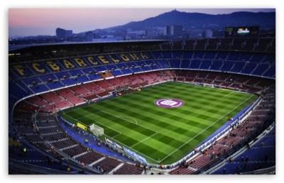 Camp Nou in Barcelona, Spain 4K HD Desktop Wallpaper for 4K Ultra HD TV • Wide & Ultra ...