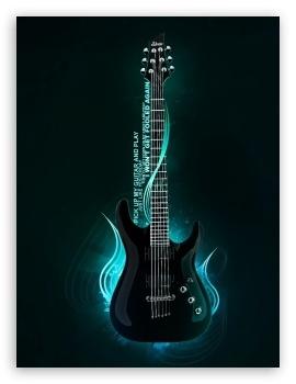Cool Guitar 4K HD Desktop Wallpaper for