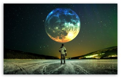 Full Moon 4K HD Desktop Wallpaper for 4K Ultra HD TV • Tablet • Smartphone • Mobile Devices