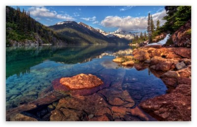 Mountain Lake With Clear Water 4K HD Desktop Wallpaper for ...