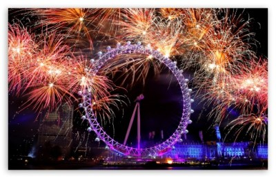 New Year Eve In London 4K HD Desktop Wallpaper for 4K Ultra HD TV • Wide & Ultra Widescreen ...