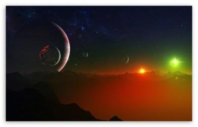 Space Fantasy Landscape 4K HD Desktop Wallpaper for 4K Ultra HD TV • Wide & Ultra Widescreen ...