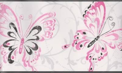 Black And Pink Wallpaper Borders 1 Cool Wallpaper - Hdblackwallpaper.com
