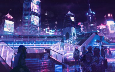 1680x1050 Cyberpunk Neon City 1680x1050 Resolution HD 4k Wallpapers, Images, Backgrounds, Photos ...