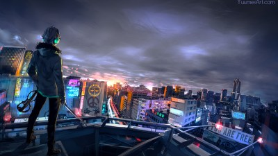 1920x1080 Cyberpunk Cityscape Laptop Full HD 1080P HD 4k Wallpapers, Images, Backgrounds, Photos ...