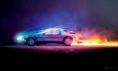 Car Lights Flame Back To The Future, HD Cars, 4k Wallpapers, Images, Backgrounds, Photos and ...