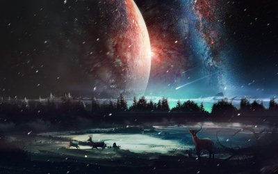 1366x768 Universe Scenery HD 1366x768 Resolution HD 4k Wallpapers, Images, Backgrounds, Photos ...